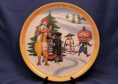 Vintage Ronald McDonald's Collector Plate 1977 Winter