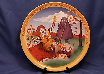 Vintage Ronald McDonald's Collector Plate 1977 Fall