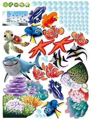 findet nemo dorie wandtattoo fische comic wandsticker deko. Black Bedroom Furniture Sets. Home Design Ideas