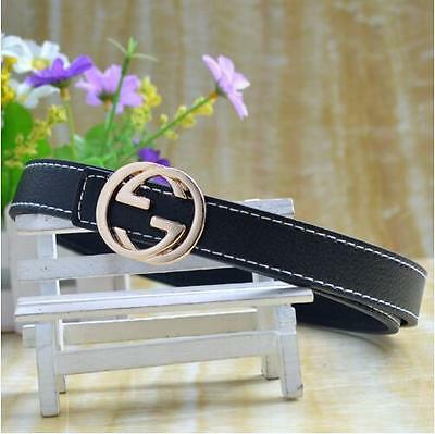 Children Kids Fashion Faux Leather Adjustable Belts For Boys Girl Red/Black/Blue