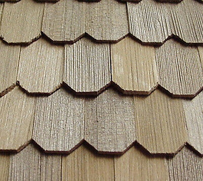 New Dolls House Miniature 1:12th Scale Roofing 500 Cedar Hexagon Shingles
