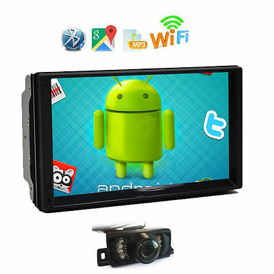 7'' inch Android 4.4 3G WiFi Double 2DIN HD Car Stereo Autoradio GPS Navi+Camera