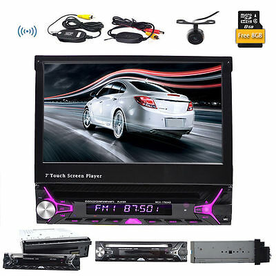 7'' AutoRadio RDS GPS NAVI 1Din Head Unit Touch Screen Car Stereo DVD MP3 Player