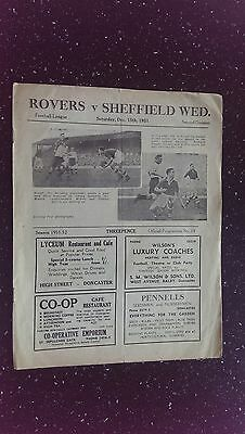 Doncaster Rovers V Sheffield Wednesday 1951-52