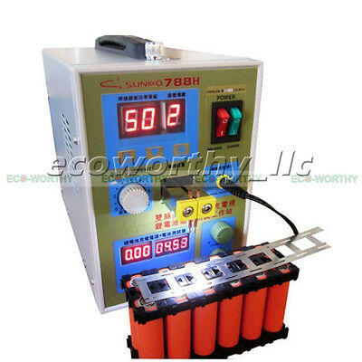 2 in 1 788H 60A Spot Welding Welder 220V Dual Pulse Machine W/ Battery Charger