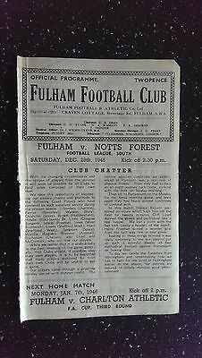 Fulham V Nottingham Forest 1945-46