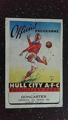 Hull City V Doncaster Rovers 1946-47