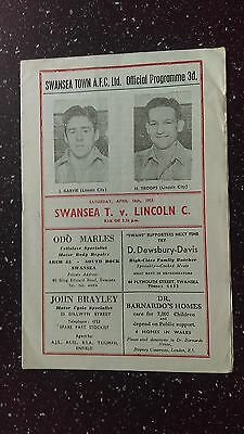 Swansea Town V Lincoln City 1954-55