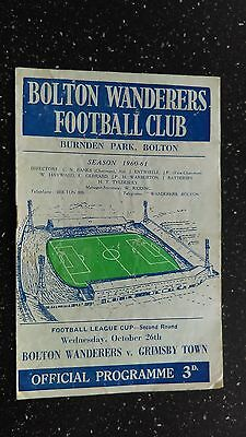 Bolton Wanderers V Grimsby Town 1960-61