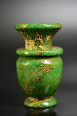 Exquisite workmanship Chinese old jade hand carved vase  G14
