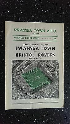 Swansea Town V Bristol Rovers 1956-57