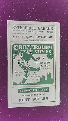 Canterbury City V Sittingbourne 1960-61