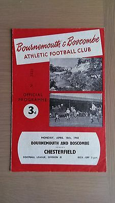 Bournemouth & Boscombe Athletic V Chesterfield 1959-60