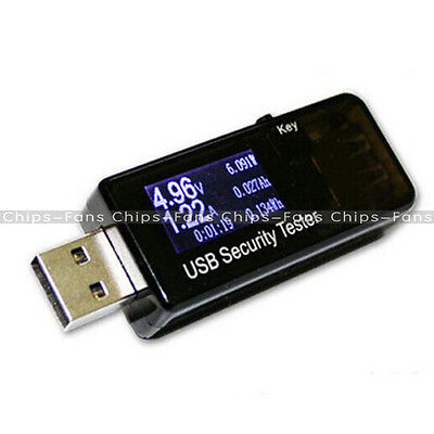 LCD USB Detector Voltmeter Ammeter Power Capacity Tester Voltage Current Meter