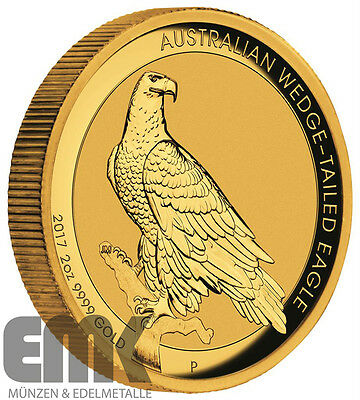 Australien - 200 Dollar 2017 - Wedge Tailed Eagle - 2 Oz. Gold High Relief in PP