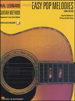 More Easy Pop Melodies Hal Leonard Guitar Method TAB Music Book with Audio
