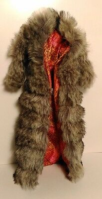 Barbie Kimora Lee Simmons doll faux fur coat