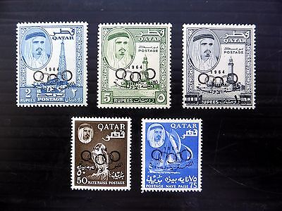 QATAR 1964 Olympic Games OPT's SG38/42 U/M NB295