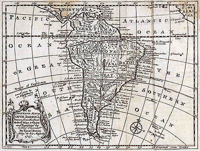 Map of South America1757  Print
