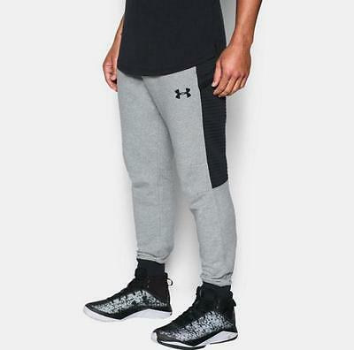 Men's Under Armour Pursuit Cargo Joggers Athletic Pants Size Large Gray Black