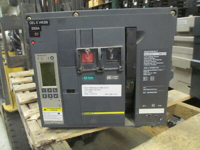 Sq D NW20H1 Masterpact Breaker 2000A Frame 2000A Rated 600V EO/DO 6.0A LSIG Used
