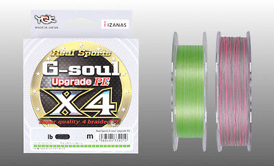 YGK Real Sports G-soul Upgrade PE X4 100m / 150m Braided Line Select LB