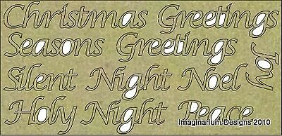 NEW Imaginarium Designs, chipboard words,Christmas words