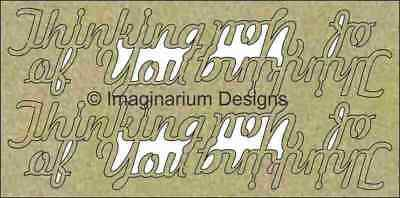 NEW Imaginarium Designs, chipboard words, Thinking of you, pk4