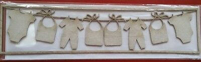 NEW Twiddleybitz, chipboard, border, Baby bunting, 29.75cm