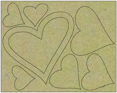 NEW Couture Creations, Hearts Board, 116x146mm