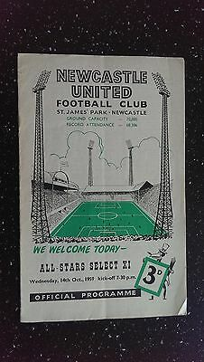 Newcastle United V All Star Select Xi 1959-60