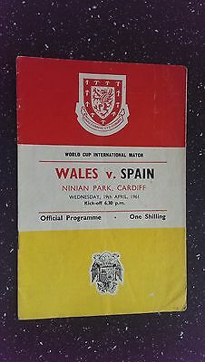 Wales V Spain 1960-61
