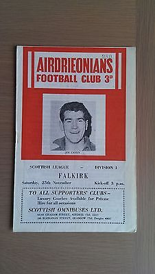 Airdrieonians V Falkirk 1961-62