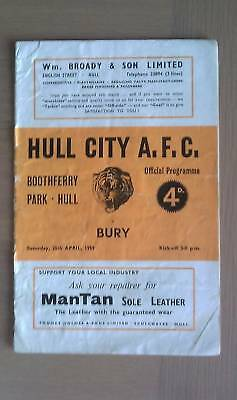 Hull City V Bury 1958-59
