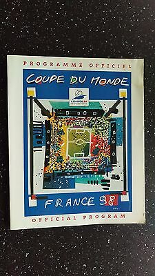 France 98 Official Tournament Programme