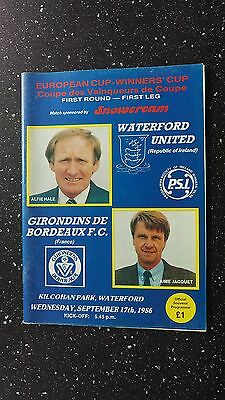 Waterford United V Bordeaux 1986-87.