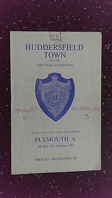 Huddersfield Town V Plymouth Argyle 1963-64