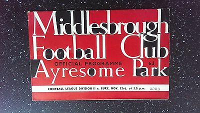 Middlesbrough V Bury 1963-64