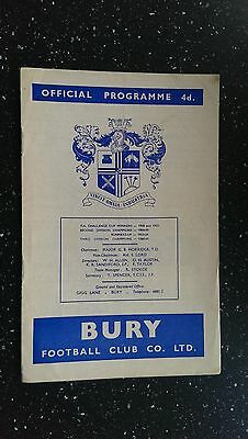 Bury V Middlesbrough 1963-64