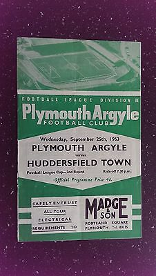 Plymouth Argyle V Huddersfield Town 1963-64