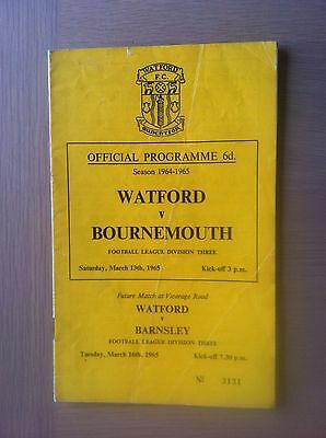 Watford V Bournemouth & Boscombe United 1964-65