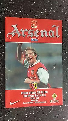 Arsenal V Racing Club De Lens 1999-00