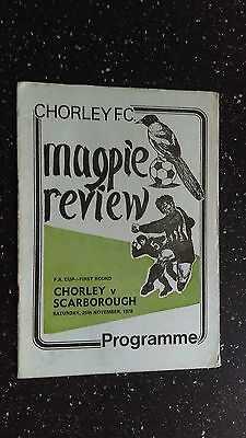 Chorley V Scarborough 1978-79
