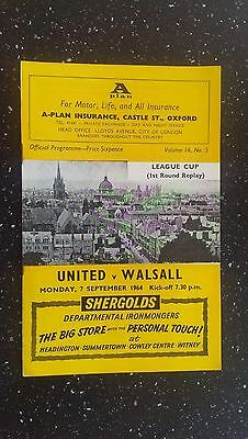 Oxford United V Walsall 1964-65