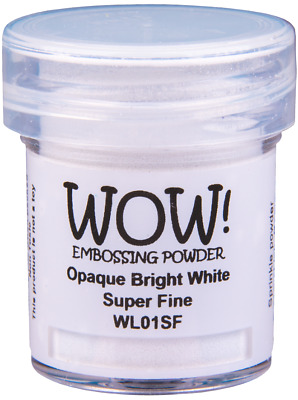 OPAQUE WHITE EMBOSSING POWDER - WOW! - 15ml JAR - COLOUR & GRADE CHOICES