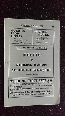 Stirling Albion V Celtic 1966-67