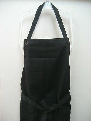 Japanese Style Kitchen Work Shop Cafe Baker Apron Poly Cotton Pockets w/Buttons