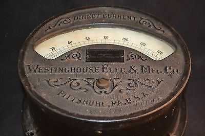 Antique Westinghouse Direct Current Voltmeter  Style 8463 c   ND3289