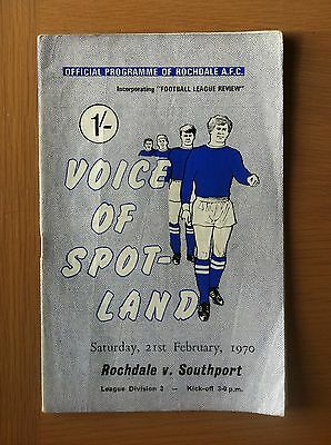 Rochdale V Southport 1969-70