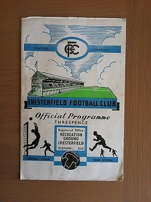 Chesterfield V Walsall 1960-61
